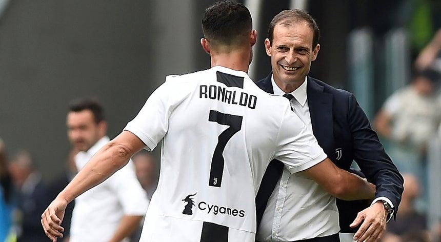 457dc36dfc Treinador da Juventus diz que expulsão de Ronaldo já faz parte do passado