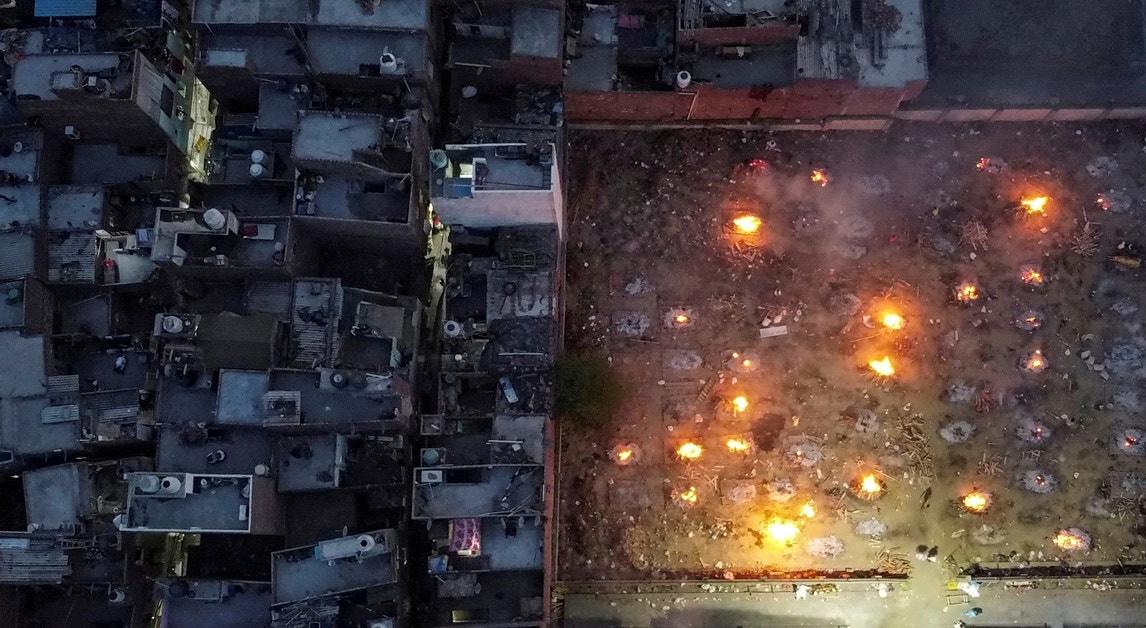 Cremação em massa durante o caos nos hospitais em Nova Deli | Danish Siddiqui - Reuters
