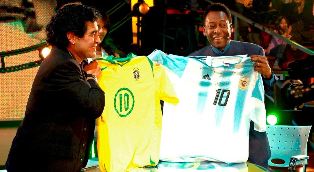 2005. Buenos Aires. Maradona com Pelé. A noite dos Dez   EPA