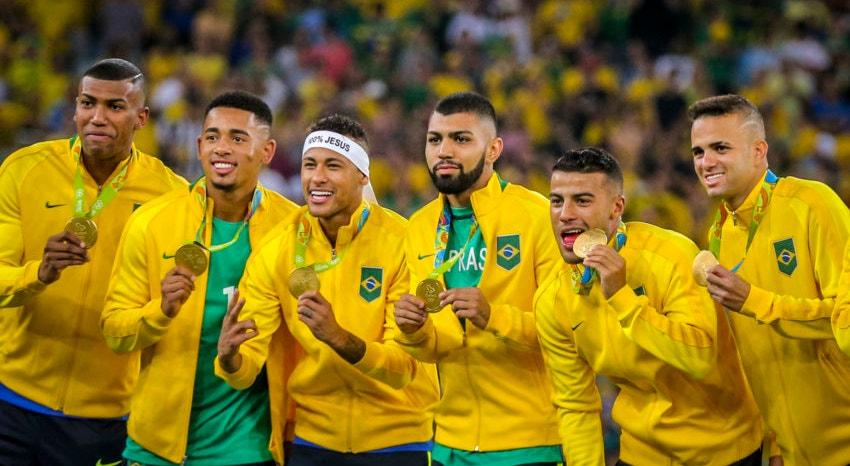 O Brasil é o atual campeão olímpico de futebol