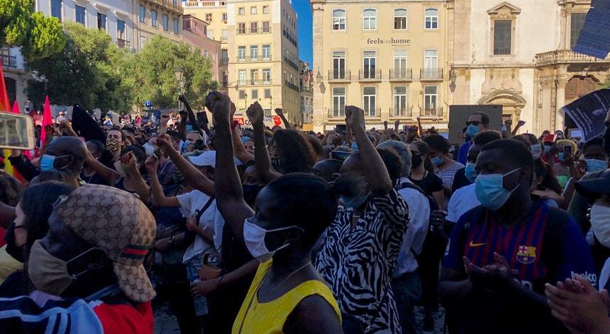 Manifestação anti-racismo em Lisboa após homicídio do ator Bruno Candé, no final de julho