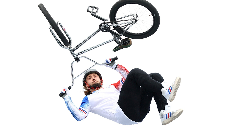 BMX Freestyle durante a prova do francês Anthony Jeanjean.   Foto: Matthew Childs - Reuters