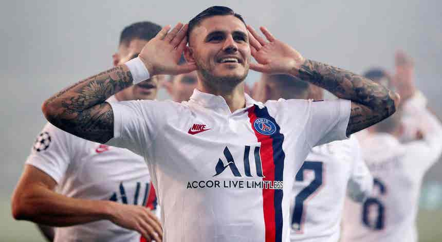 Mauro Icardi assina até 2024 com o Paris Saint-Germain