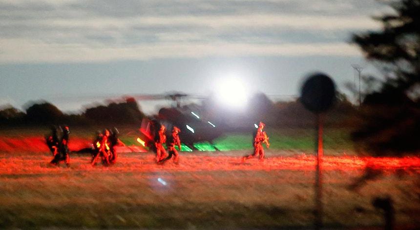 Forças especiais alemãs durante um treino