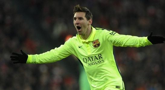 Messi festeja um dos 300 golos
