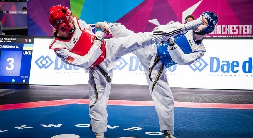 Rui Bragança, à esquerda na foto, obteve uma excelente prestação em Sofia