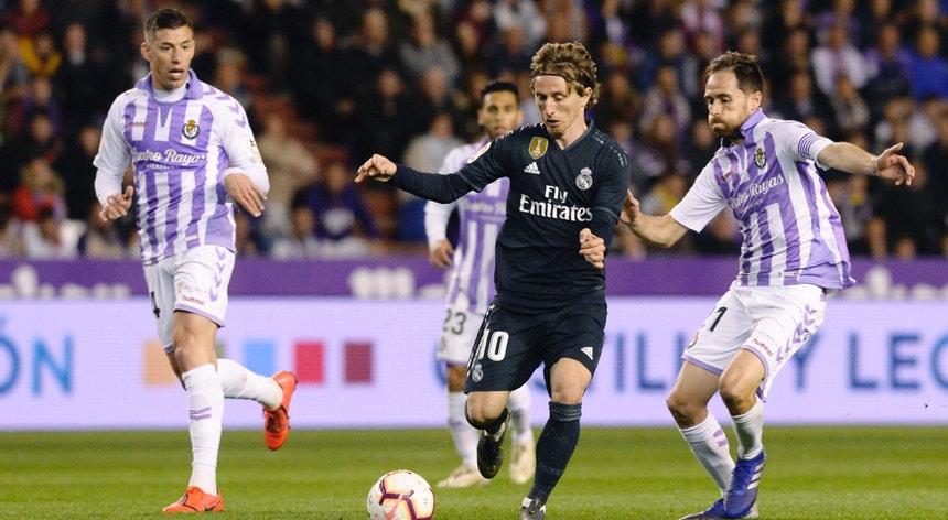 A equipa do Real Madrid esteve a perder em Valladolid mas conseguiu vencer