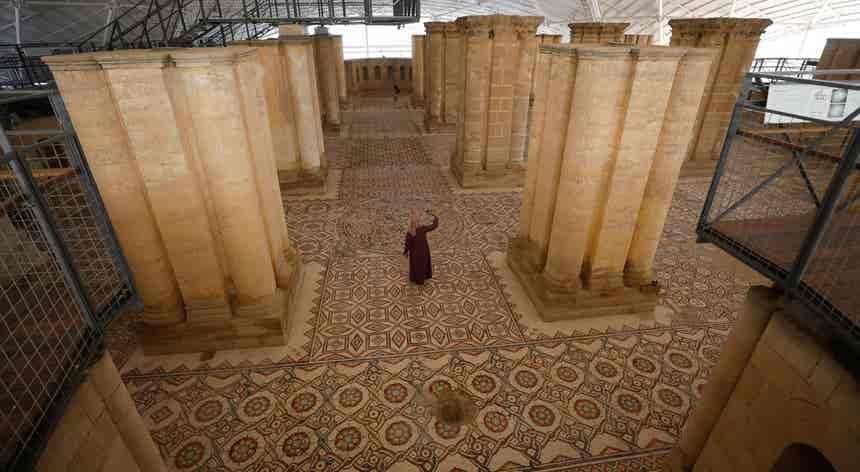 Dinastia Omíada. Um dos maiores mosaicos do mundo
