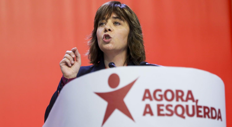 """Resultado de imagem para """"A política mudou porque o PS não teve maioria absoluta"""", diz Catarina Martins"""
