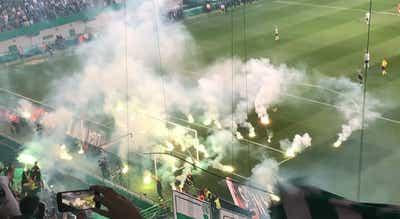 Sporting multado em quase 6.000 euros por arremesso de pirotecnia frente ao Benfica