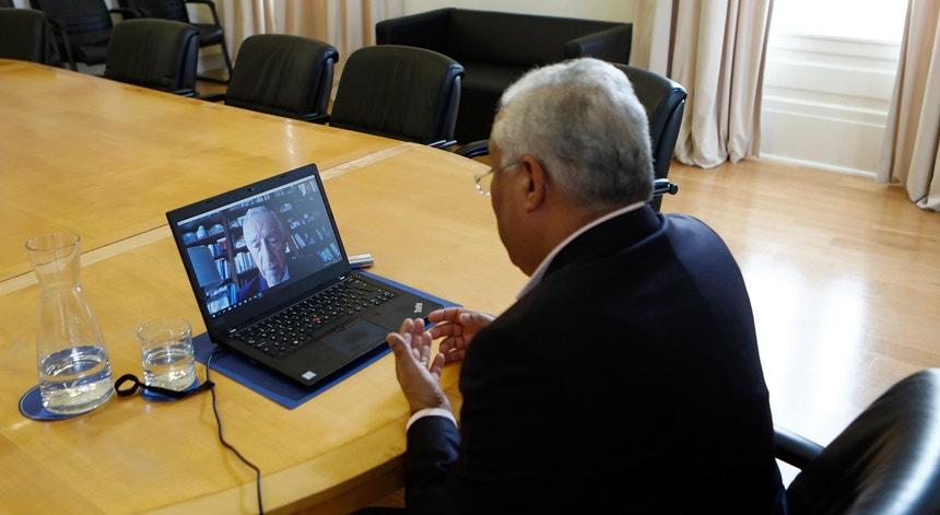 PM reuniu-se com PR por teleconferência