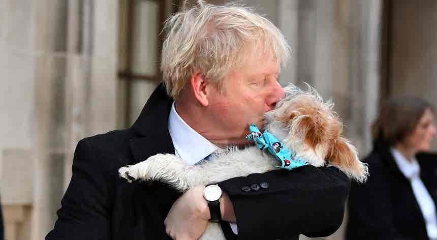 Johnson levou o melhor amigo às urnas