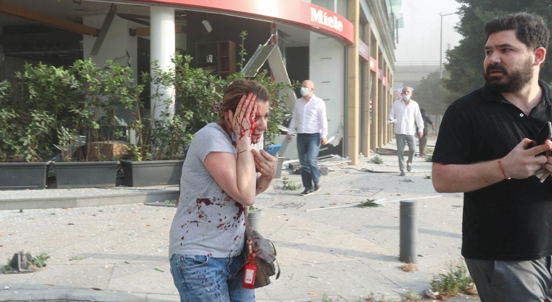 Mais de quatro mil pessoas ficaram feridas.   Mohamed Azakir - Reuters
