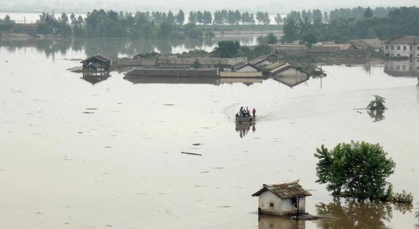 As inundações estão a afetar a vida das populações na Coreia do Norte