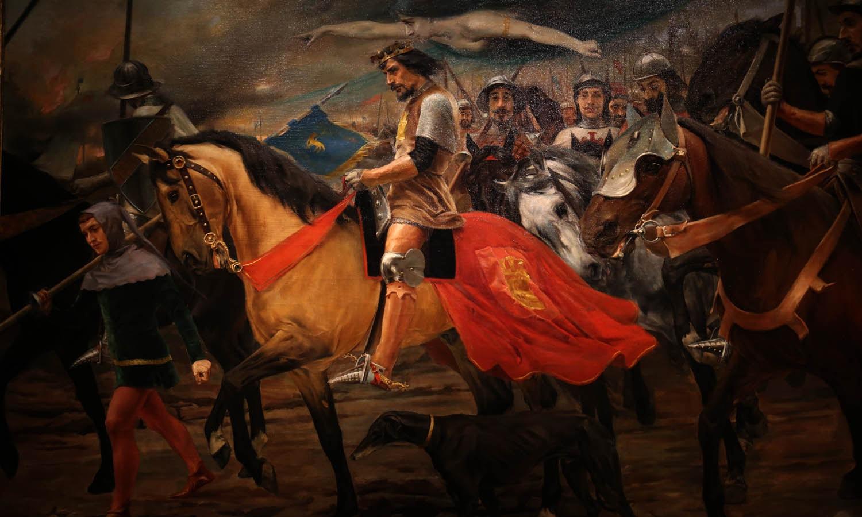 Tomada de Lisboa aos mouros. Autor desconhecido. Obra do séc. XVII