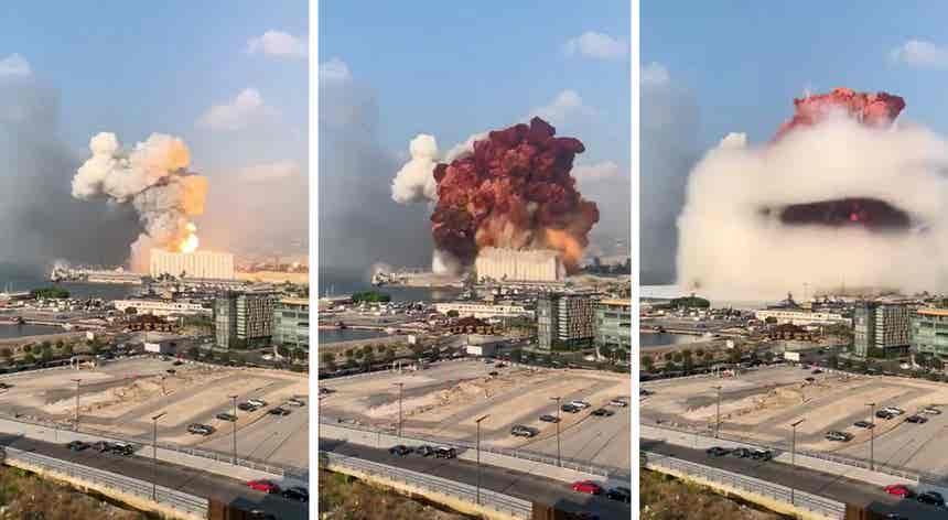 Beirute cai por terra após explosão mortífera
