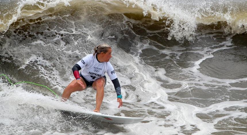 A surfista portuguesa teve uma prestação positiva e conquistou um diploma olímpico