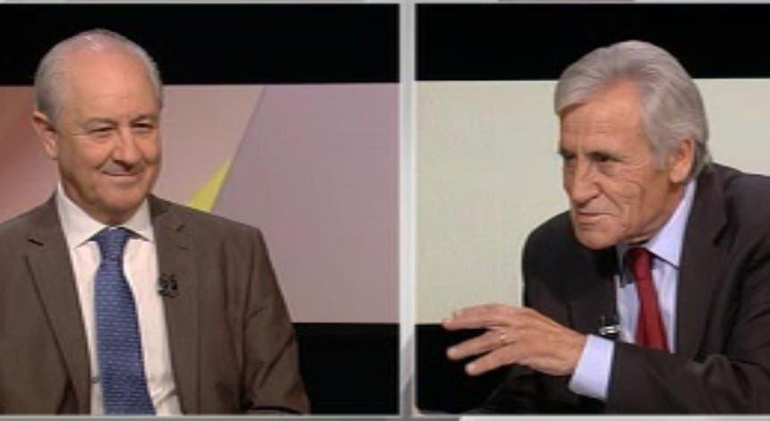 Rui Rio e Jerónimo de Sousa, durante o debate na RTP a 12 de setembro de 2019