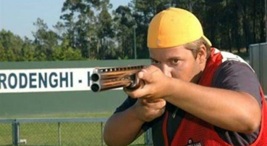 João Paulo Azevedo ficou a dois pontos da final na prova de trap (fosso olímpico) do tiro com armas de caça