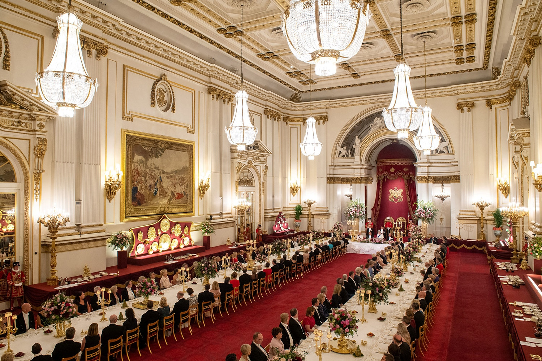 Uma perspetiva geral do salão onde decorreu o banquete de Estado /Dominic Lipinski - Reuters