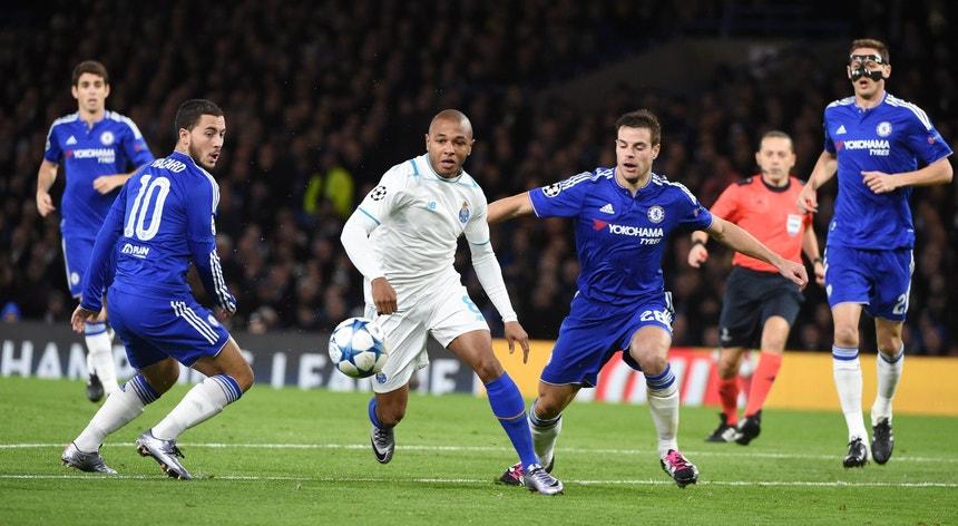 Durante o jogo houve sempre muito Chelsea para pouco FC Porto