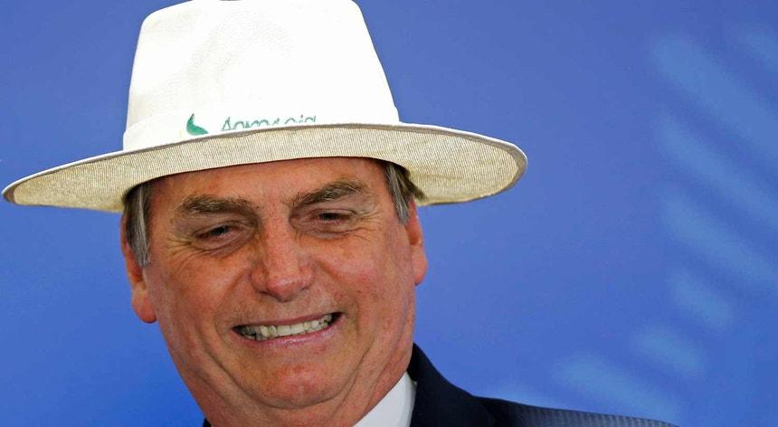 Bolsonaro, numa cerimónia do BNDES