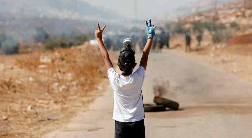Enclave palestiniano. Luta constante