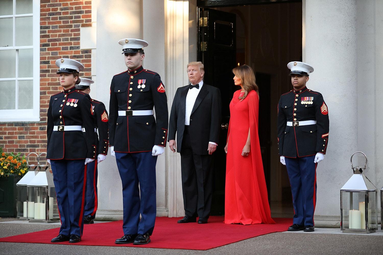 Jantar em Winfield House na residência oficial do embaixador norte-americano /Chris Jackson - Reuters