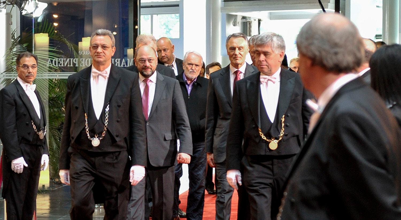 Visita oficial do antigo Presidente da República Cavaco Silva ao Parlamento Europeu em 2013 / Fonte: Parlamento Europeu