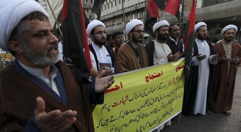 Vários xiitas em todo o mundo protestaram este sábado contra a execução de Baqar al-Nimr.