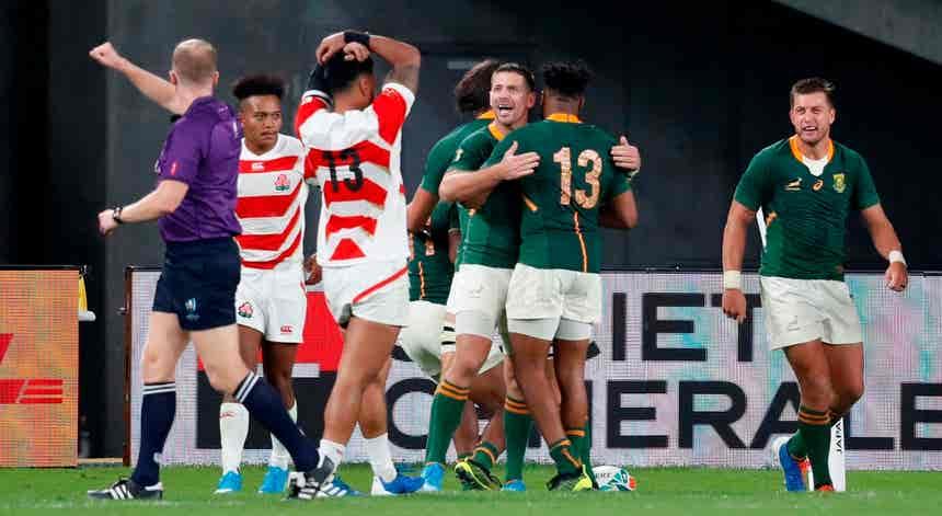 África do Sul apaga sonho japonês e está nas meias-finais
