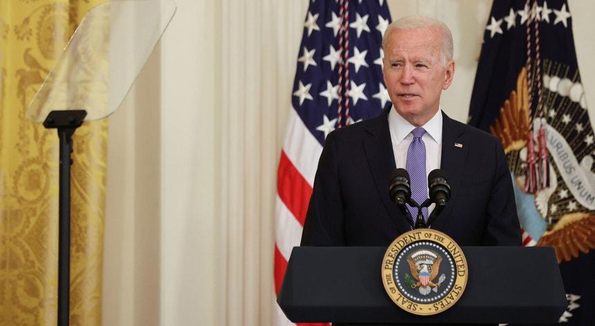 Joe Biden, Presidente dos EUA, na Casa Branca a 22 de julho de 2021