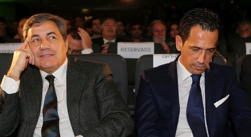 Fernando Gomes e Pedro Proença felicitaram Luís Filipe Vieira