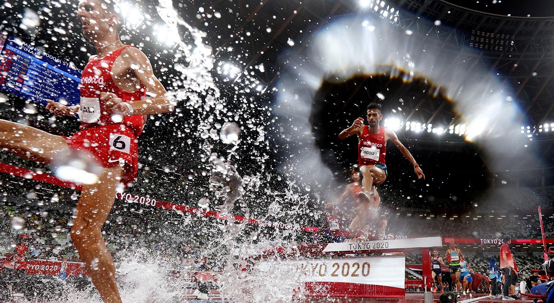 Final da prova de atletismo masculina de 3000m.   Foto: Kai Pfaffenbach - Reuters