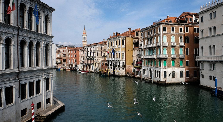 Grande Canal em Veneza praticamente vazio /Manuel Silvestri - Reuters