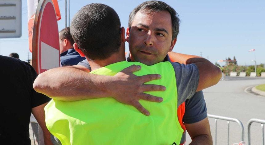"""""""A única via é o diálogo"""", afirmou o representante do sindicato em conferência de imprensa, em Aveiras de Cima"""