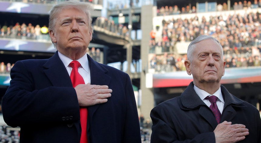 James Mattis foi secretário da Defesa da Administração Trump entre janeiro de 2017 e dezembro de 2018.
