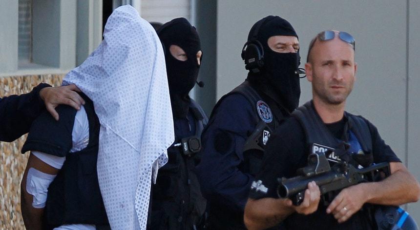 Foto de uma detenção em Lyon, em Junho passado