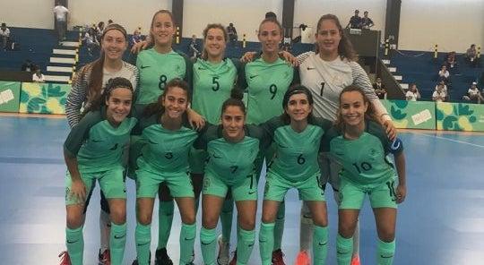 """Futsal feminino nas """"meias"""" dos Jogos Olímpicos da Juventude ... 2e0dc719d6e7b"""