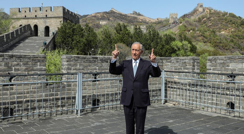 Marcelo na Grande Muralha