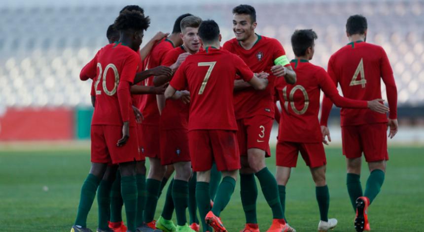 Seleção portuguesa de sub-19 venceu a Itália e empatou com a Espanha