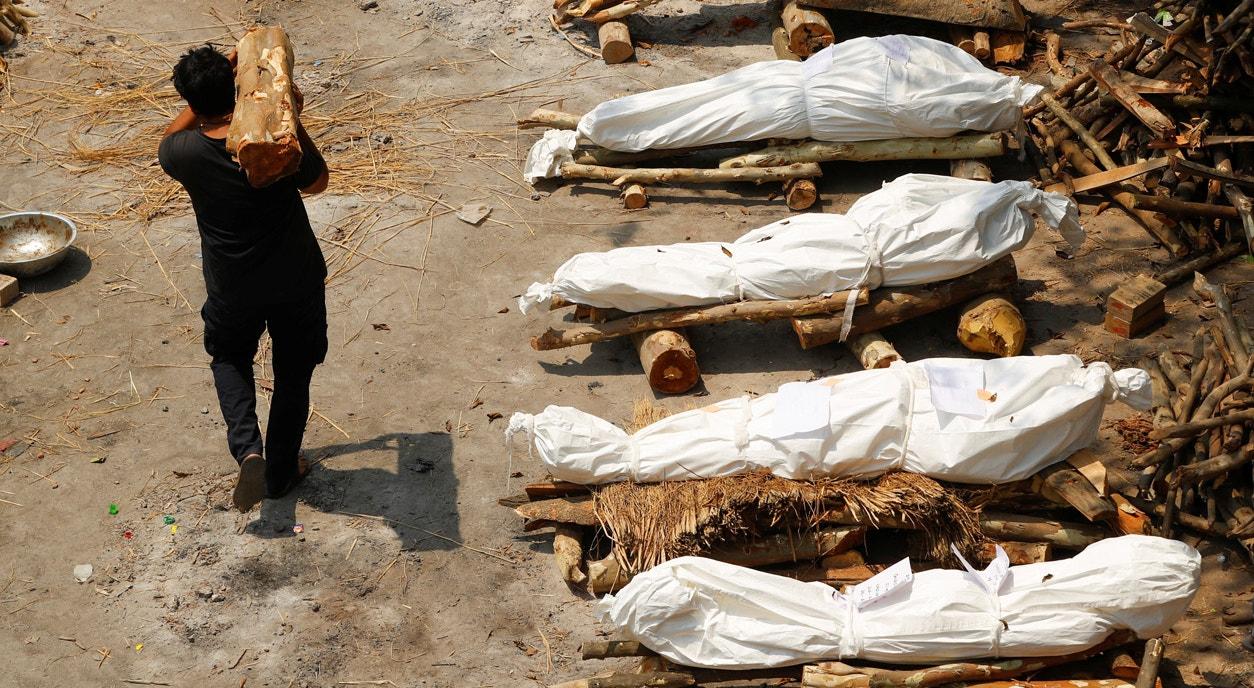 Nova Deli. Madeira para as piras funerárias | Adnan Abidi - Reuters
