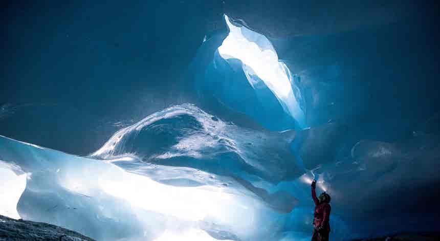 Aústria. Glaciar a derreter