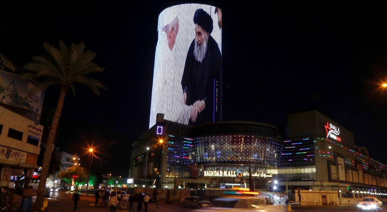 Bagda. Recordação do encontro entre Papa e Ayatollah Ali al-Sistani | Khalid al-Mousily - Reuters