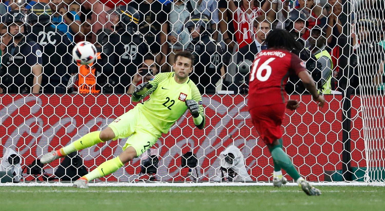 Chamado a converter um penálti no final do jogo com a Polónia, a jogador não desilude.