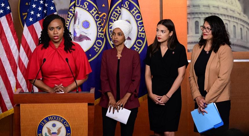 """Das quatro democratas visadas pelo Presidente norte-americano, todas são consideradas """"não-brancas"""". Mas apenas Ilhan Omar, do Minnesota, não nasceu nos EUA"""