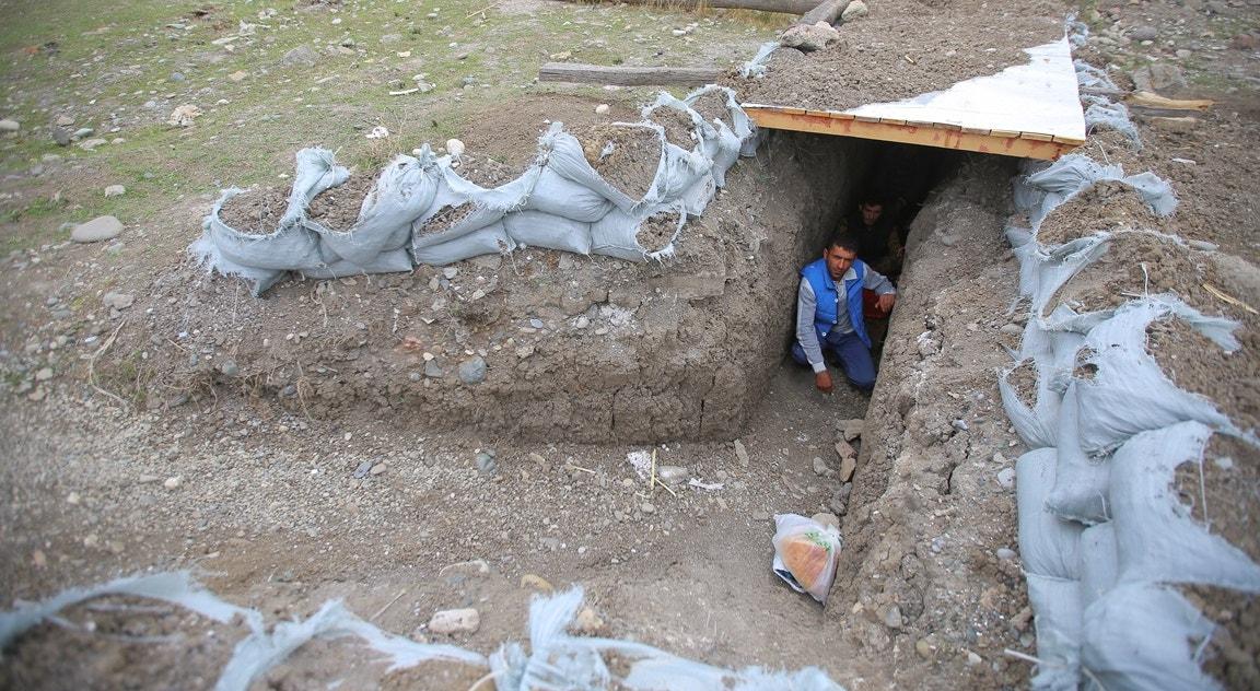 Cidade de Terter, residentes em abrigo   Aziz Karimov - Reuters