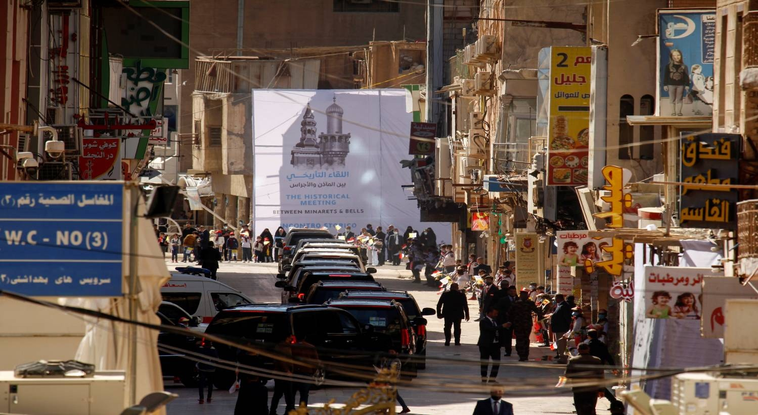 Najaf. Comitiva e segurança do Papa | Alaa Al-Marjani - Reuters
