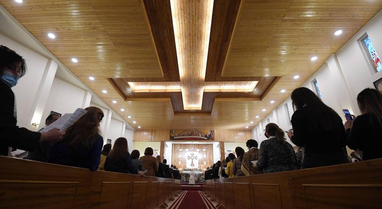 Bagda. Missa liderada por Papa Francisco, na Chaldean Cathedral of 'Saint Joseph' | Vatican Media - EPA
