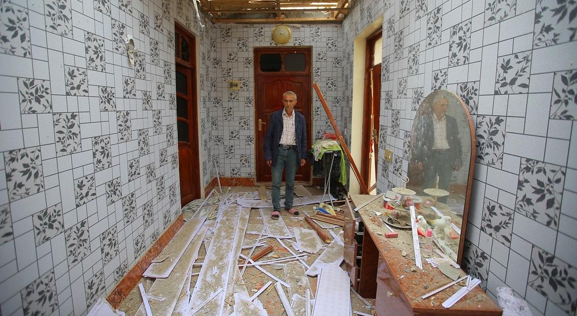 Cidade de Terter, habitação danificada   Aziz Karimov - Reuters